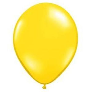 12 Yellow Latex Balloons Birthday Party Supplies Decorations Wedding Baby Shower