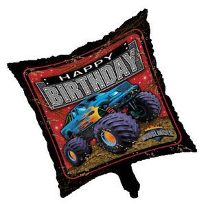 Monster Truck Mudslinger Party Supplies Happy Birthday Foil Balloon New