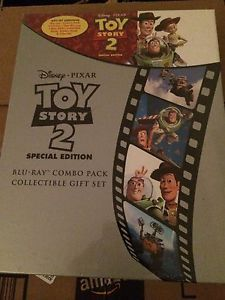 New Toy Story 2 Blu Ray Combo Pack Special Edition DVD Collectible Gift Set