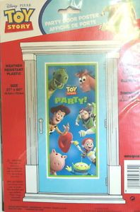 "Disney Toy Story Large Plastic Door Poster 27x60"" Birthday Party Decorations"