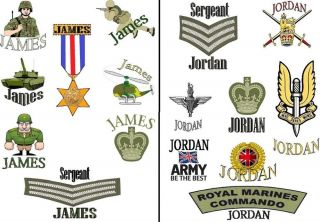 Boys Army Soldier Tattoos Personalised Loot Bag Filler