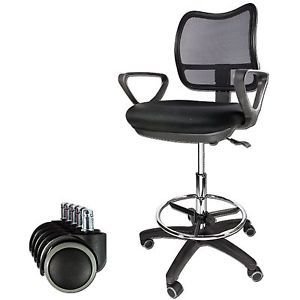 Mesh Swivel Office Chair Drafting Computer Adjustable Back Arm Office Desk Shop