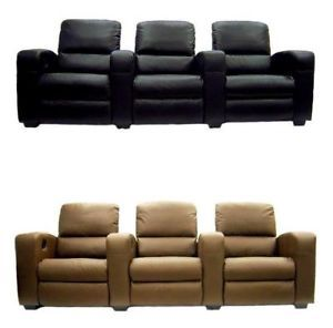 Home Theater Seating Recliner Chair Movie Seats Top Grain Leather Lounging Sofa