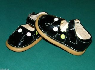 Black Patent Leather Toddler Girls Squeaky Shoes New Szs 3 8 Really Nice