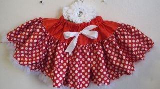 Girls Baby Toddler Red Polka Dot Tutu Skirts Pettiskirt Dance Dress Up