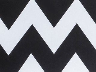 "Chevron Black and White Gift Wrapping Paper 24"" x 6 ft Flat Wrap Holiday"
