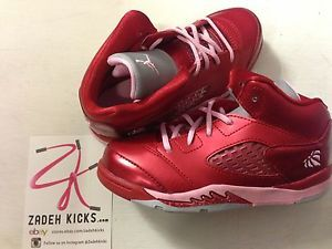 Nike Air Jordan Retro 5 TD Valentines Day Red Pink 440890 605 Girls 3 10c 11 3