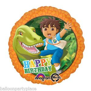 New Balloon Go Diego Happy Birthday Party Supplies Dora The Explorer Dinosaur