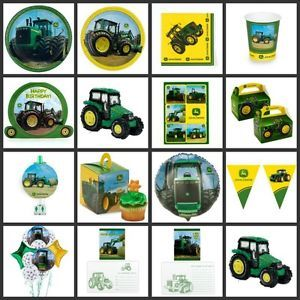 John Deere Tractor Birthday Party Supplies Choose Your Own Set Kit