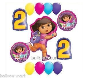 Dora The Explorer 2nd Birthday Party Supplies Balloon Kit Second Two Decoration