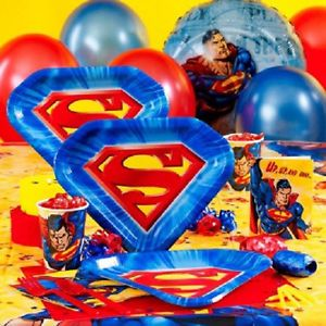 Superman Super Hero Birthday Party Supplies Many Choices to Create Your Set