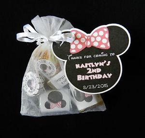 Unique Personalized Minnie Mouse Birthday Party Baby Shower Party Favor Gift Tag