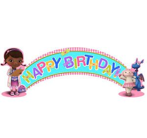 Disney Doc McStuffins 1 Birthday Banner Birthday Party Supplies Decorations