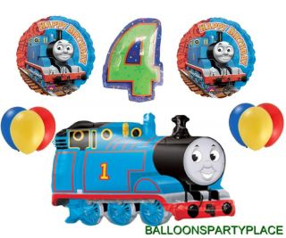 Thomas The Tank Train Balloon Birthday Party Decoration Supplies 4th Fourth Four