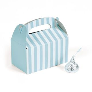12 Light Blue Gable Party Favor Boxes Candy Buffet Treat Box Wedding Popcorn