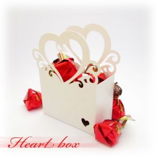 Vintage Style Heart Bag Favor Candy Gift Box for Wedding Christmas Party