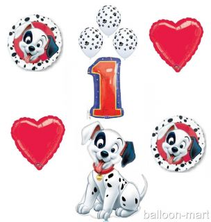 101 Dalmatians Balloons Set Party Supplies Paw Print Dog 1st Birthday First Girl