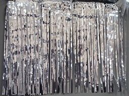 "Silver Metallic Fringe Table Skirting 14' x 29"" Party Supply Decoration 07201"