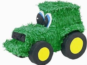 Green Tractor Pinata John Deere Farm Themed Birthday Party Supplies Games