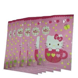 6X Pcs Sanrio Hello Kitty Birthday Party Supply Gift Loot Bags H161