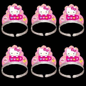 Sanrio Hello Kitty Birthday Party Supply x6 Crown Tiaras H159