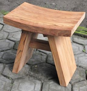 Grade A Teak Wood 18x12 Asian Bath Side End Table Stool Shower Outdoor Furniture