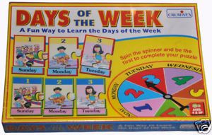 Days of The Week Educational Puzzle Game Preschool