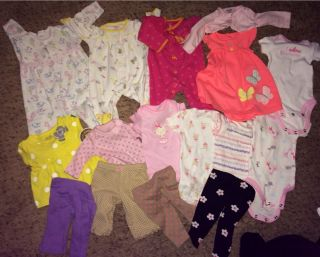 Lot of New Born Baby Girl Clothes Carters Dress