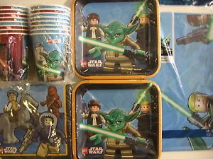 Star Wars Lego Birthday Party Supply Kit Pack for 16