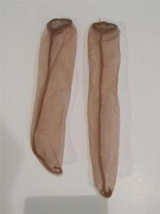 Vintage 1950 Baby Doll Clothes Sheer Nude Socks Stocking Hose Pantyhose EXC