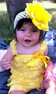New Lace Romper Yellow Baby Girl Toddler Infant
