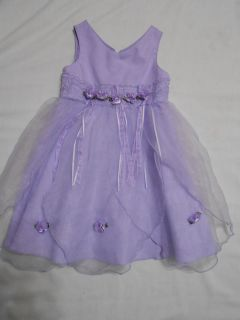 Toddler Girls Lavender Purple Sheer Sleeveless Spring Summer Easter Dress 3T