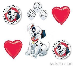 101 Dalmatians Balloons Set Birthday Party Supplies Paw Print Dog Puppy Heart XL