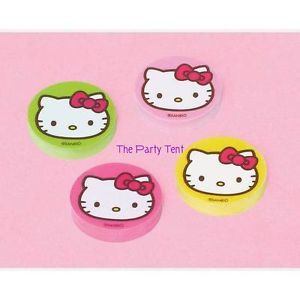 12 Hello Kitty Erasers Girls Party Treat Loot Goody Bags Favors Teacher Sanrio