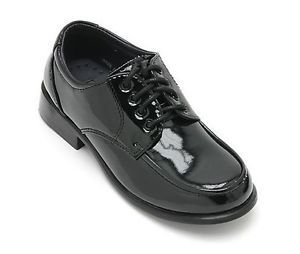 Toddler Baby Kids Boys Formal Shiny Dress Shoes Black