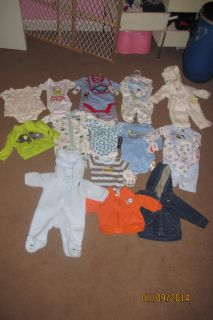 Baby Boy Infant Newborn 0 to 3 Month Large Clothes Lot All New