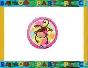 Monkey Balloon Birthday Party Baby Shower Supplies Jungle Animal Print Pink New