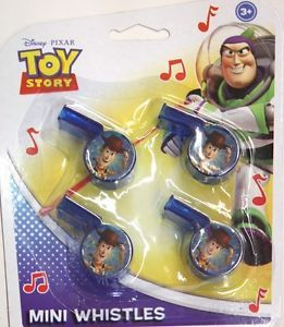 4 Disney Toy Story Mini Whistles Birthday Party Supply Decorations