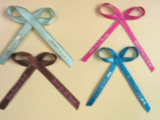 "400 Personalized Ribbons 1 4"" or 3 8"" Wedding Birthday Party Baby Shower Favor"