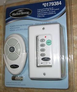 New Harbor Breeze Universal Ceiling Fan Light Wall Control Switch with Remote