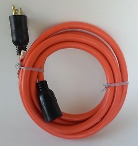 10' 10 Gauge Indoor Outdoor Orange Extension Cord
