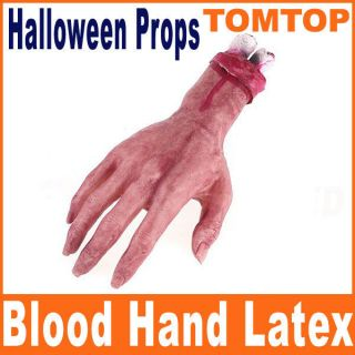New Blood Hand Latex Scary Bloody for Halloween Props