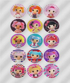 A420 Edible Image Birthday Decoration Cake Cookie Cupcake Toppers Lalaloopsy