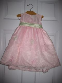 Baby Toddler Girl Dress Easter Church 18 24 Months Pink Green Pretty Flower Girl