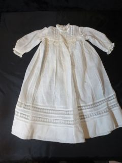 Vintage Antique Baby Clothes Victorian Baptism Baptismal Christening Gown Dress