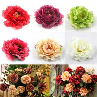 1 x Peony Flower Artificial Silk Flower Hair Clip Headband Wedding Floral Decor