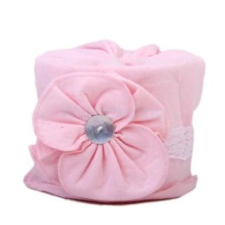 Toddler Kids Child Flower Lace Cotton Beanie Knit Girls' Hat Cap Lovly Pink Hot