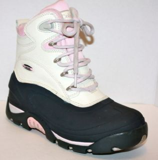 Columbia Bugabootoo Winter Snow Boots Women's 8 Pink Gray Waterproof Thinsulate