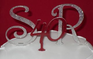 New Glitter Cake Toppers for Wedding Anniversaries Lots of Colours to Choose