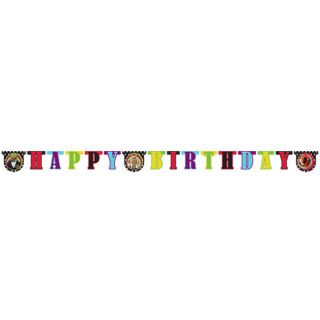 74in Disney The Muppets Movie Black Happy Birthday Party Cutout Letter Banner